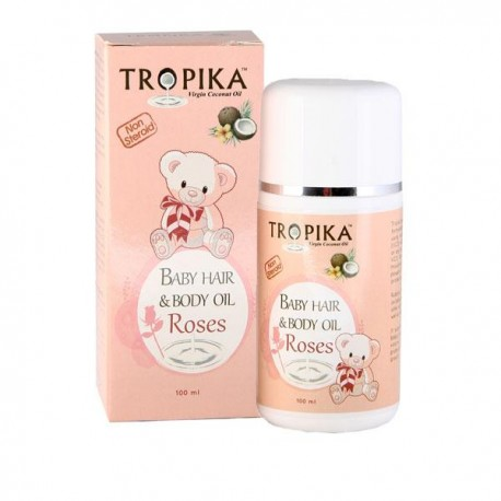 Tropika Baby Hair and Body Oil Aroma Roses 100ml