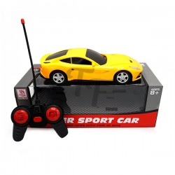 1:16 Four-Way Remote Control Super Sport Car With Light - Yellow