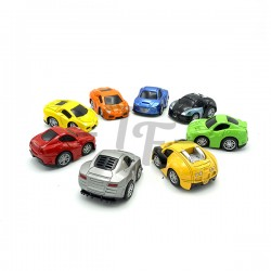 Dasher Multi Colour Pull Back Metal Car, Individual Packed - Set of 8