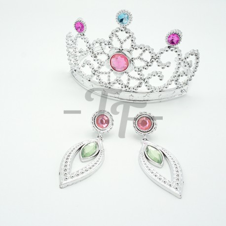 Toys Funtastic Princess Dress Up Accessories Jewellery Set With Tiara Crown