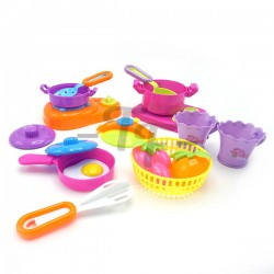 Toys Funtastic Happy Kitchen Cooking Set (14 Pcs)