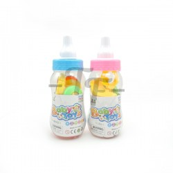 Baby Rattle Set In Bottle - Pink