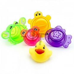 Animal Stacking Bath Cups Splash Bath Tub Toys