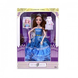 "Toys Funtastic 11"" Wedding Doll Dress Up Gown Gift Set - Blue"