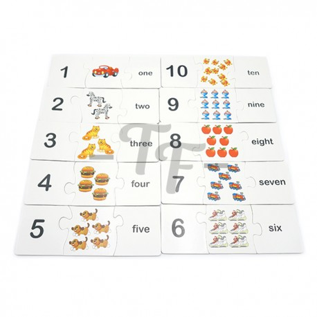 Toys Funtastic 3-Pcs Matching Puzzle For Learning Of Numbers