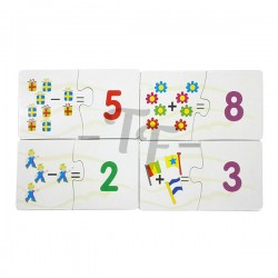 Toys Funtastic Arithmetic Learning Matching Puzzle Set