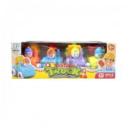 Toys Funtastic Lovely Cartoon Push And Go Truck Gift Set