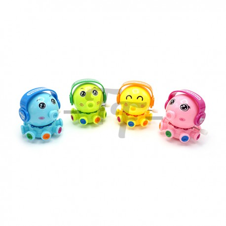 Toys Funtastic Bright Colour Rotary Octopus Baby Wind-Up Toys - Yellow