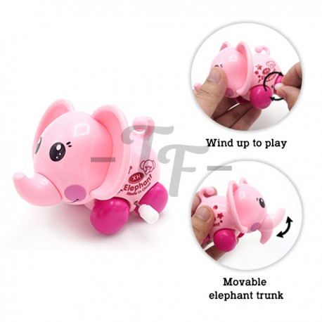 Toys Funtastic Cute Elephant Baby Wind-Up Toys - Green