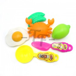 Toys Funtastic 7 Pcs Fun Cooking Play Set In Net Bag