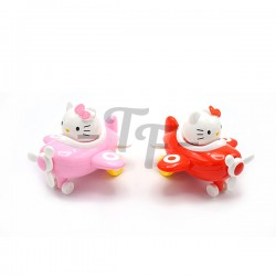 Toys Funtastic Kitty Cat Friction Little Plane - Pink
