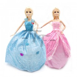 "Toys Funtastic 12"" Birthday Doll Dress Up Gown Gift Set - Pink (New)"