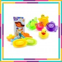 Onniso Special Promotion - Bath Time Toy - Animal Stacking Bath Cups & Colorful Little Boat Train