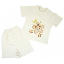 Trendyvalley Organic Cotton Short Sleeve Baby Shirt and Short Pants (Star)
