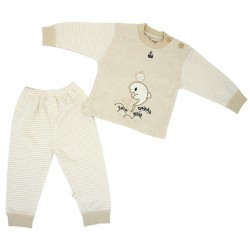 Trendyvalley Organic Cotton Long Sleeve Long Pants Baby Shirt/Sleepwear (Dolphin)
