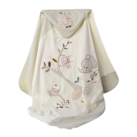 Trendyvalley ORGANIC COTTON BABY WRAPPER & ORGANIC BLANKET (80CM x 80CM)