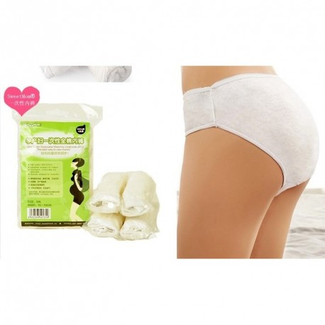 Trendyvalley - 5 packs Full Cotton Disposable Maternity Panty