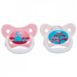 Dr Brown's Prevent Butterfly Shield Pacifier - Stage 1 (0 - 6M) Pink, 2-pack
