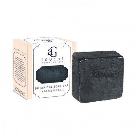 AG Touché_Botanical Handmade Soap Bar Hypoallegenic Suitable for Adult & Kid_Bamboo Charcoal,80g