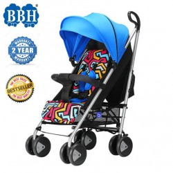 BBH QE9 Light Weight Umbrella Stroller for New Born Baby with 1 Year Warranty (Blue)