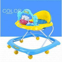 BBH 349 Baby Walker With Stopper / English Song (Blue)